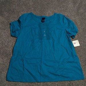 Basic editions xxl teal blouse NEW WITH TAGS
